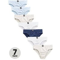 Mini V by Very Boys 7 Pack Favourite Briefs, Multi, Size 2-3 Years