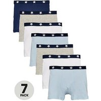 Mini V by Very Boys 7 Pack Elasticated Trunks, Multi, Size 4-5 Years