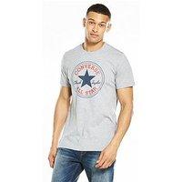 Converse Core Chuck Patch T-Shirt, Grey Heather, Size S, Men
