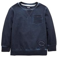 Mini V by Very Boys Navy Oil Wash Sweater, Multi, Size Age: 12-18 Months