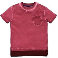 Mini V by Very Boys Red Oil Wash Pocket Tee, Multi, Size Age: 6-9 Months