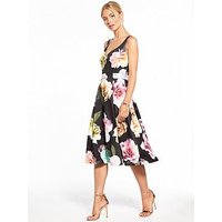 V By Very Premium Sweetheart Printed Prom Dress