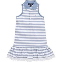 Ralph Lauren Sleeveless Lace Trim Dress, Blue, Size 5 Years, Women