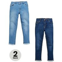 V by Very Boys Light Wash Skinny Jeans (2 Pack), Multi, Size Age: 15 Years