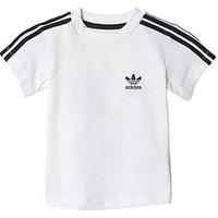 adidas Originals Baby Boy Trefoil Tee, White, Size 6-9 Months