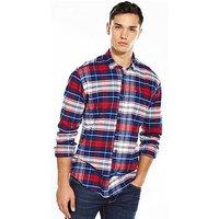 Tommy Jeans Tommy Hilfiger Denim Tartan Check Long Sleeve Shirt, Tartan, Size 2Xl, Men