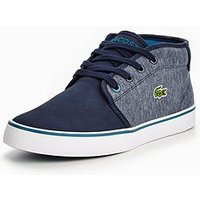 Lacoste Ampthill Boot, Navy, Size 1 Older