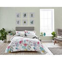Joules Bright White Beau Bloom 100% Cotton Duvet Cover