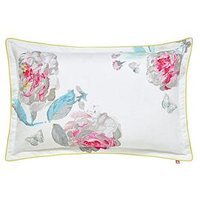 Joules  Bright White Beau Bloom 100% Cotton Oxford Pillowcase