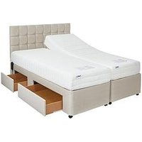 Product photograph showing Mibed Rainford Adjustable Divan Bed 2 X Linked Beds Ndash Choose A Reflex Memory Or 1000 Pocket Memory Mattress