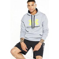 UNDER ARMOUR Rival Fitted Graphic Hoody, Grey Heather, Size S, Men