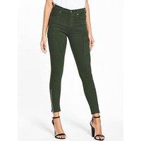 DR. DENIM Dezie Skinny Jean, Riot Green, Size Xl, Women