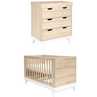 Mamas & Papas Lawson Cot Bed and Dresser Changer, One Colour