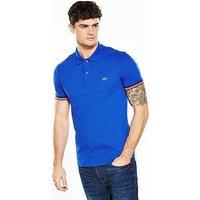 Lacoste Sportswear Tipped Sleeve Polo, Royal Blue, Size 5, Men