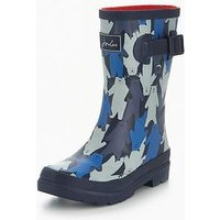 Joules Bear Camo Welly, Navy, Size 8 Younger