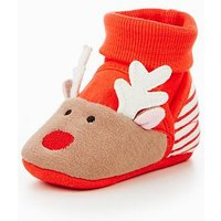 Joules Rudolf Nipper Slipper, Red, Size 12-18 Months