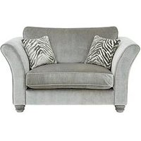 Luxe Collection - Velvetine Plain Fabric Cuddle Chair