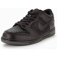 Nike Nike Dunk Low '17 SE Junior Trainer, Black, Size 3