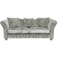 Luxe Collection - Velvetine 3-Seater Fabric Sofa