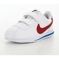 Nike Cortez Leather Infant Trainer, White/Red/Blue, Size 7