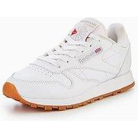 Reebok Classic Leather - White , White, Size 6, Women