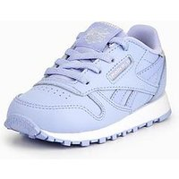 Reebok Reebok Classic Leather Pastel Infant Trainer, Lilac, Size 4