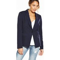 V by Very The Tailored Jacket, Navy, Size 12, Women