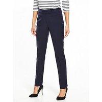 V by Very The Cigarette Trouser, Navy, Size 8, Inside Leg Regular, Women