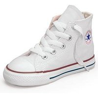 Converse Ctas Hi Core Infant Trainer, White, Size 4