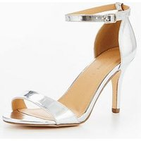 b602aad1b1ad V By Very Gem Extra Wide Fit Mid Height Heeled Sandal - Silver