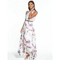 Little Mistress Floral Maxi Dress, Print, Size 12, Women