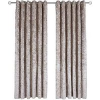 Made To Measure Luxury Crushed Velvet Eyelet Curtains &Ndash; Ivory