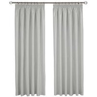 Made To Measure Faux Silk Pleated Curtains &Ndash; Silver