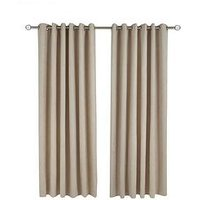 Made To Measure Faux Suede Eyelet Curtains &Ndash; Natural