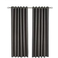 Made To Measure Faux Suede Eyelet Curtains &Ndash; Charcoal