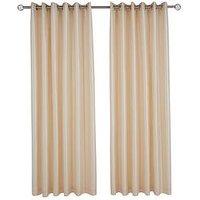 Made To Measure Faux Silk Eyelet Curtains &Ndash; Natural