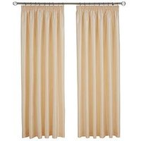 Made To Measure Faux Silk Pleated Curtains &Ndash; Natural