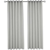 Made To Measure Faux Silk Eyelet Curtains &Ndash; Silver