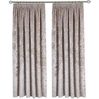 Made To Measure Luxury Crushed Velvet Pleated Curtains &Ndash; Ivory