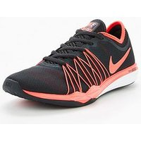 Nike Dual Fusion TR HIT - Grey/Red , Grey/Red, Size 4, Women