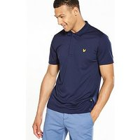 Lyle & Scott Fitness Lyle & Scott Sport Foster Pique Short Sleeve Polo, Navy, Size S, Men