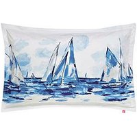 Joules  Sailing Boats 100% Cotton Oxford Pillowcase