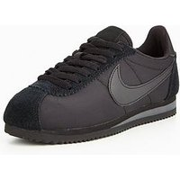 Nike Classic Cortez Nylon - Black, Black/Black, Size 3, Women