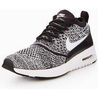 Nike Air Max Thea Ultra Flyknit - Black/White , Black/White, Size 7, Women