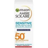 Ambre Solaire Garnier Ambre Solaire Sensitive Advanced Face & Neck Lotion SPF50+ 50ml, One Colour, Women