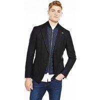 Tommy Hilfiger Tommy Hilfiger Mik Suit Jacket With Detachable Gilet Insert, Navy, Size 40, Length Regular, Men