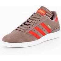 adidas Originals Busenitz, Grey/Red, Size 6, Men