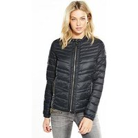 Replay Padded Jacket - Black, Black, Size S, Women