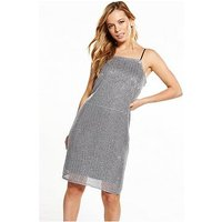 RI Petite Sequin Dress, Silver, Size 10, Women