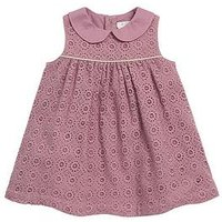 Mamas & Papas Baby Girls Lace Collar Dress, Pink, Size 3-4 Years